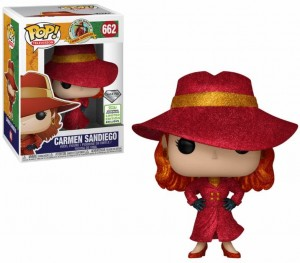 Figurka Carmen Sandiego POP! Carmen Glitter Limited Edition Exclusive Spring Convention
