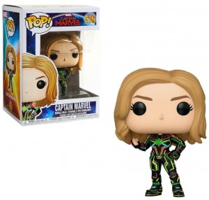 Figurka Captain Marvel POP! Kapitan Marvel Neon Suit