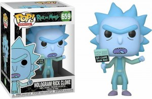 Figurka Rick and Morty POP! Hologram Rick Clone