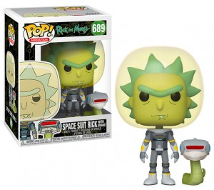 Figurka Rick and Morty POP! Space Suit Rick with Snake
