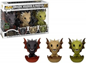 Figurka Gra o Tron POP! Viserion Drogon Rhaegal Limited Edition Exclusive