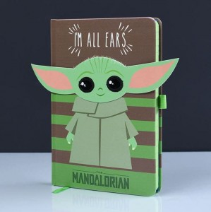 Notatnik Zeszyt Star Wars Baby Yoda I'm All Ears Green