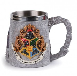 Kubek Harry Potter Hogwart metalowy 3D