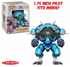 Figurka Overwatch POP! D. VA with Meka Blueberry Exclusive