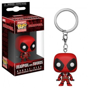 Brelok Deadpool POP! Two Swords