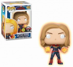 Figurka Captain Marvel POP! Captain Marvel GITD Exclusive