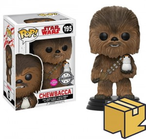 Figurka Star Wars Last Jedi POP! Chewbacca with Porg Flocked Exclusive *