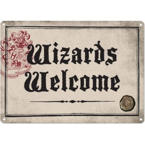 Tabliczka Harry Potter Wizards Welcome metalowa