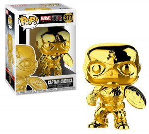 Figurka Marvel Studios 10 POP! Kapitan Ameryka Chrome